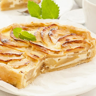 Cottage Cheese And Apple Gratin With Honey
