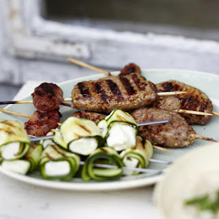 Zucchini Kebabs and Lamb Köfte.