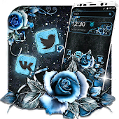 Classic Blue Rose Theme Android APK Download Free By Fancy Theme Palace