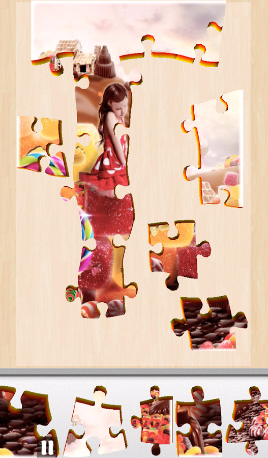 Live Jigsaws - Candyland Free- screenshot