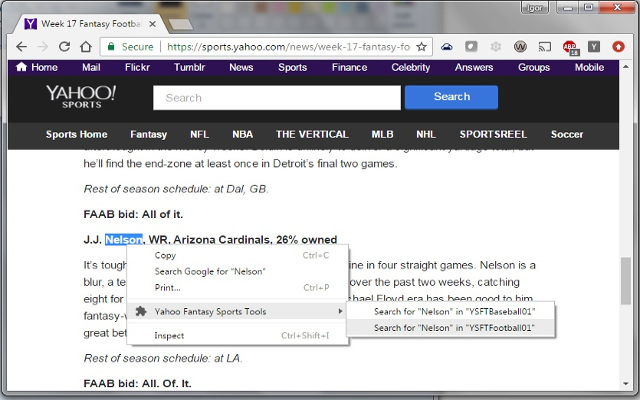 Yahoo Fantasy Sports Tools