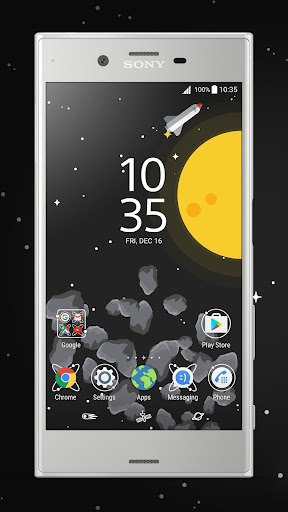 Apl  XPERIA™ Live in Space Theme untuk Android screenshot