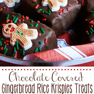 Chocolate Covered Gingerbread Rice Krispies Treats®.