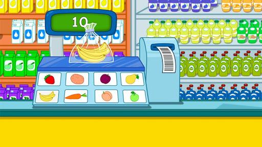 Cashier in the supermarket. Games for kids apklade screenshots 2