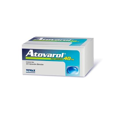 Atorvastatina Atovarol 40 Mg X 30 Cápsulas Vivax 40 mg x 30 Cápsulas
