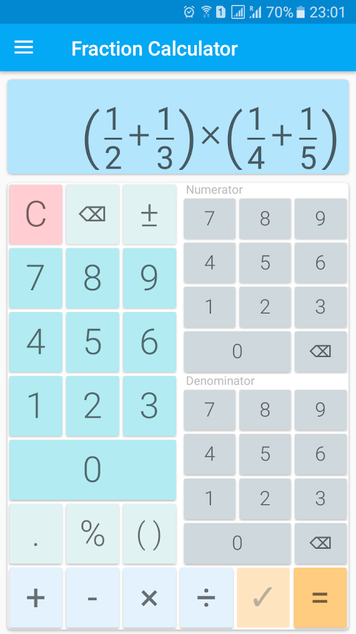 Fraction calculator with solution for free - Android Apps ...