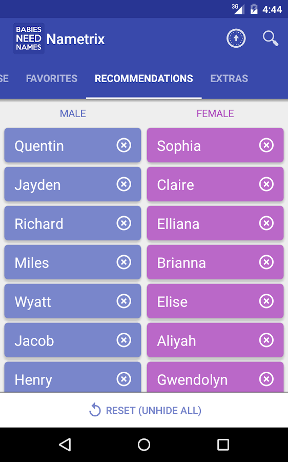 Baby Names By Nametrix Screenshot