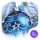Blue shine ball APUS launcher theme & HD wallpaper