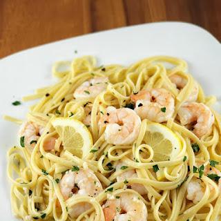 Shrimp Scampi Linguine.
