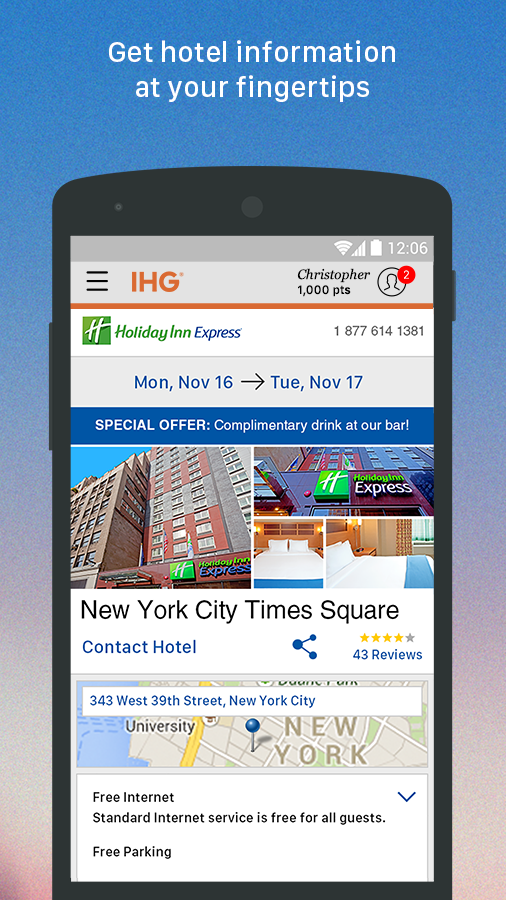 IHG®: Hotel Deals & Rewards- screenshot