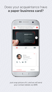 Drop business card exchange holder scanner app apps on google play screenshot image reheart Image collections