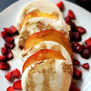 Simple Peach Caprese Salad Recipe
