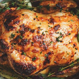 Mayonnaise Roasted Whole Chicken Recipe