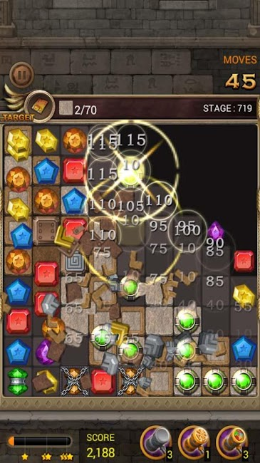 #10. Jewels Temple Quest : Match 3 (Android)