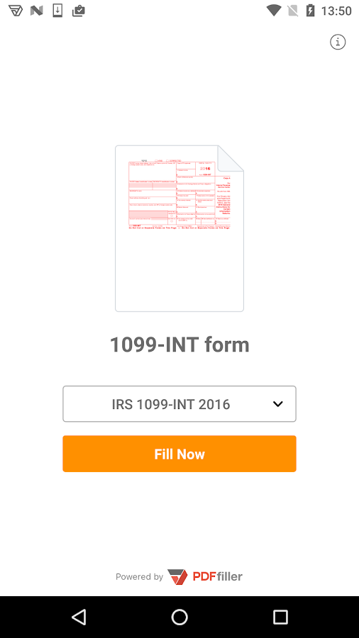 1099-INT form- screenshot