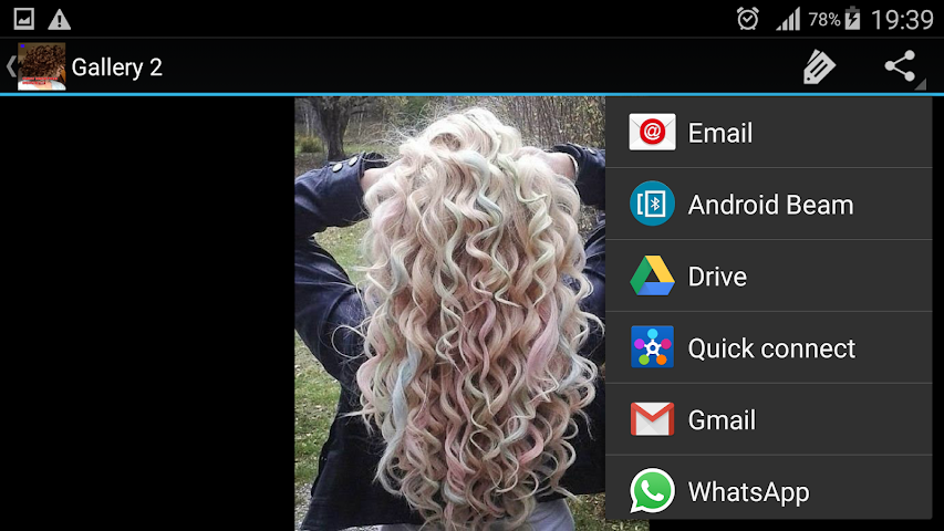 android Entwirft Lockenfrisuren Screenshot 9