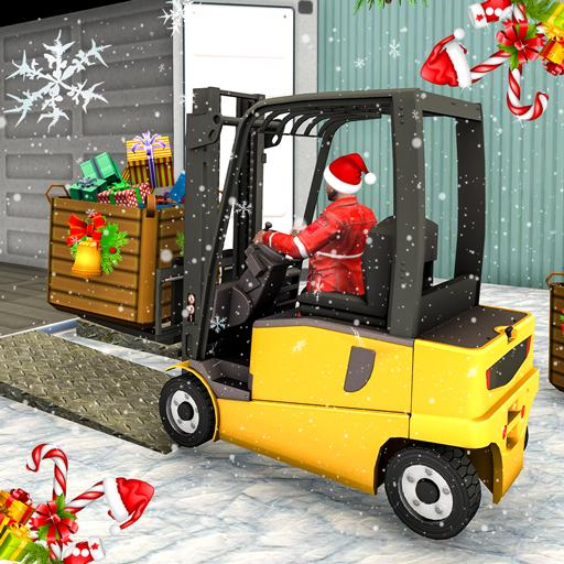 Baixar Santa Christmas: Forklift Christmas Party Gifts