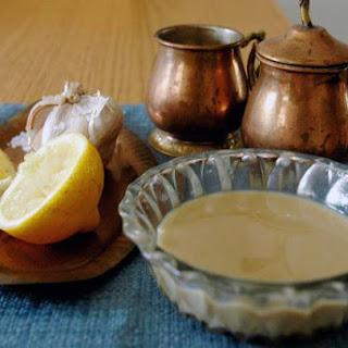 Fresh Garlicky Tahini Sauce