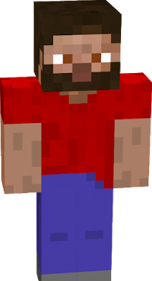 Beard Steve Red Shirt custom by samutlgfx