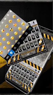 Download Metal Warning Line Keyboard Theme For PC Windows and Mac apk screenshot 4