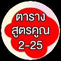 ตารางสูตรคูณ แม่ 2-25 icon
