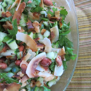 Spicy Cucumber Peanut Salad in Lime Dressing