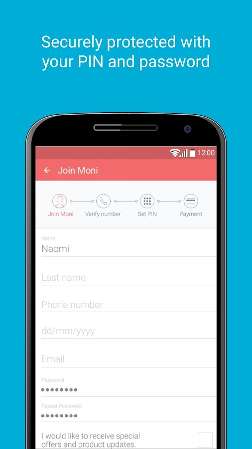 Moni – Mobile Money Transfer- screenshot