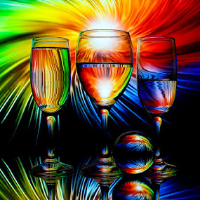 Event Horizon by Sam Sampson - Artistic Objects Glass ( reflection, pattern, glasses, colorful, rainbow )