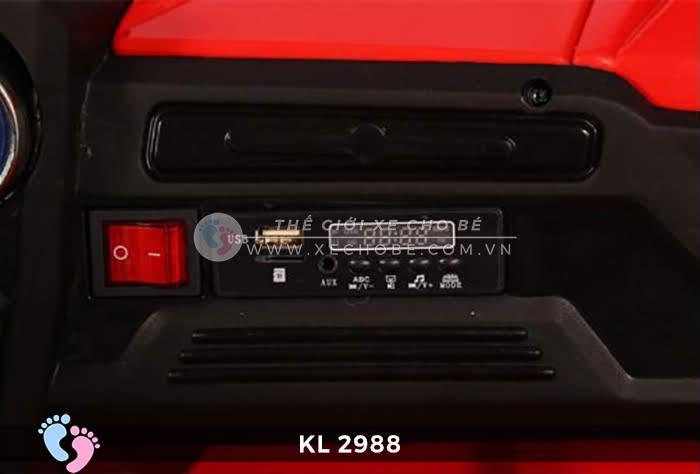 Xe ô tô điện đồ chơi trẻ em KL-2988 ghế da 19