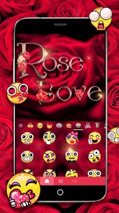 Rose Love Keyboard Theme - náhled