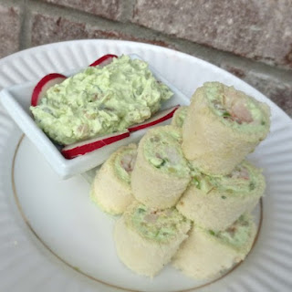 Seafood, Avocado and Cream Cheese Roll-Ups