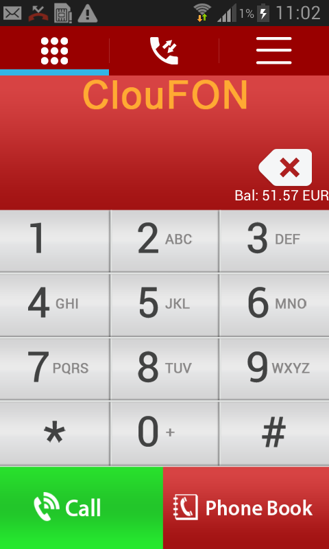 ClouFON - Smart Phone Calls- screenshot