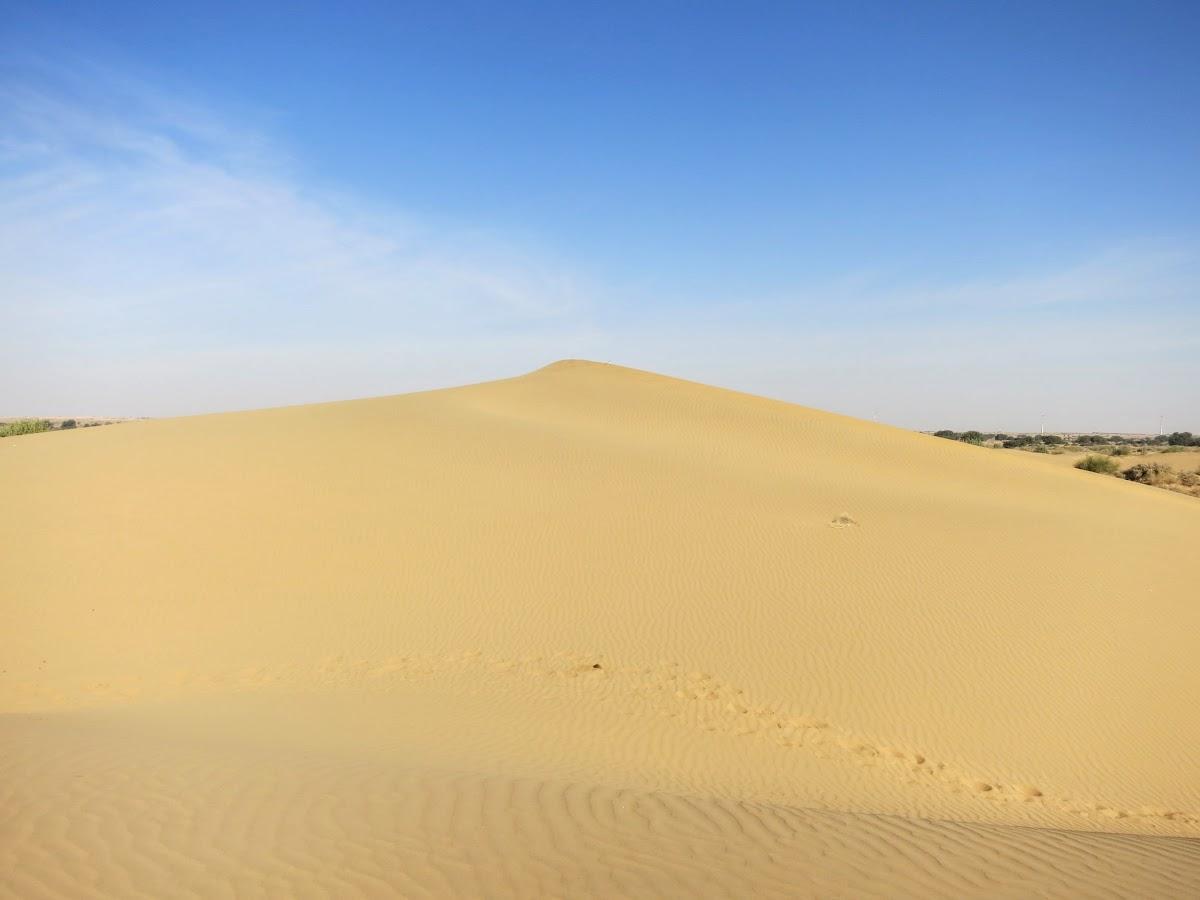 India. Rajasthan Thar Desert Camel Trek. Pukhar Dunes