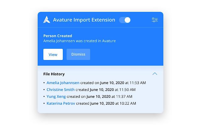 Avature Import Extension