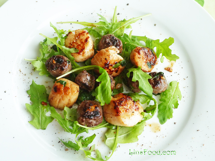 Homemade Venison Sausages with Scallops Recipe