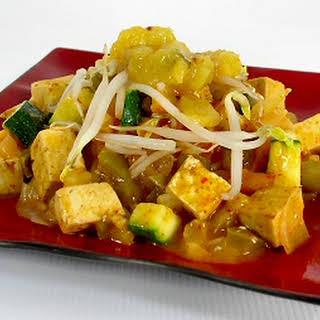 Thai Red Curry with Mango Chutney.