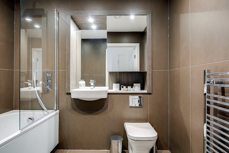 Bathroom at Heathrow Central Apartments