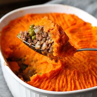 Sweet Potato Bison Shepherd's Pie