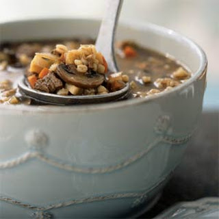 Mushroom, Barley, and Beef Soup