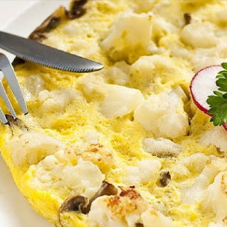 Omelette with Cauliflower and Mushrooms Recipe