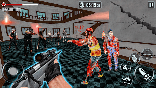 Into The Zombie Dead Land: Zombie Shooting Games 1.0.8 Mod + Data for Android 3
