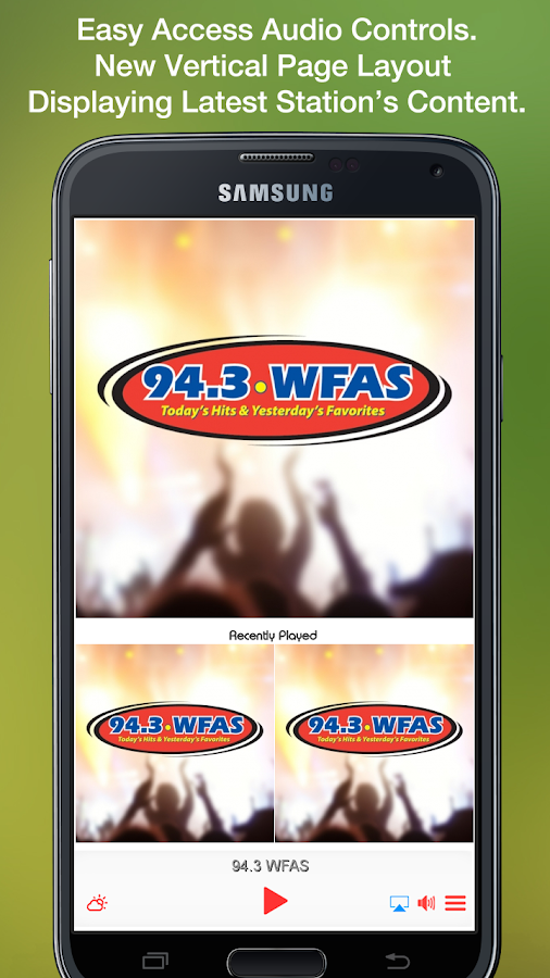 94.3 WFAS- screenshot
