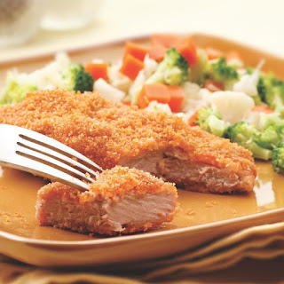 Golden Baked Pork Cutlets.