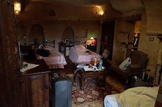 Photo: Our cave hotel room