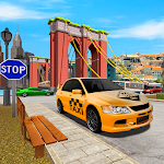 City Traffic Racing In Taxi Icon