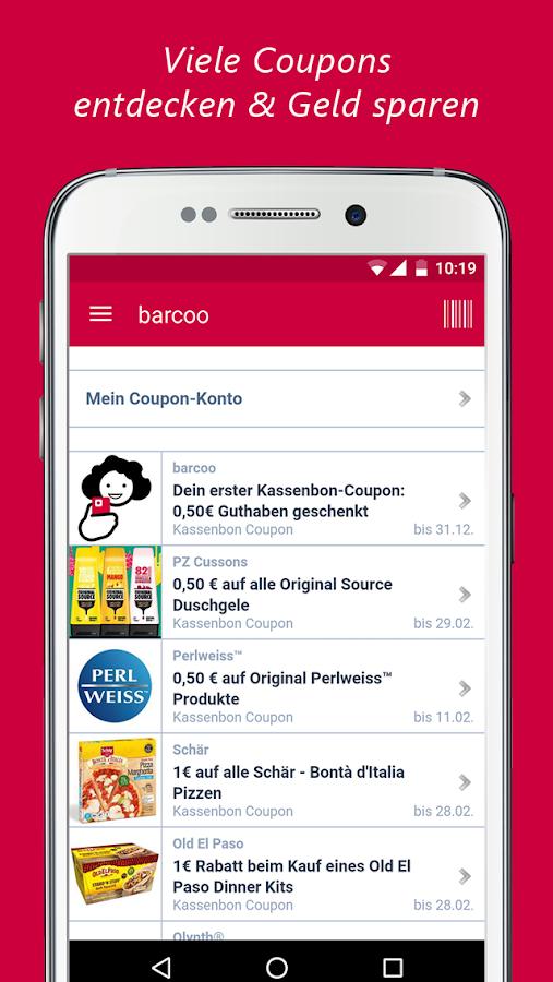 Barcode coupon app android - Deals computer desktop