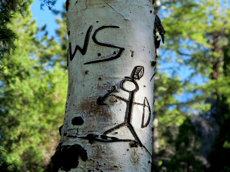 Photo: Stick figure with bow and arrow
