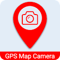 Live GPS Map Camera Geotagging location with Photo icon