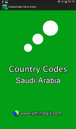 Country Codes - Saudi Arabia