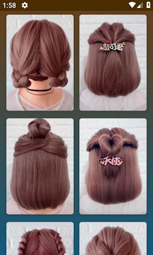 Hairstyles for short hair screenshot 1